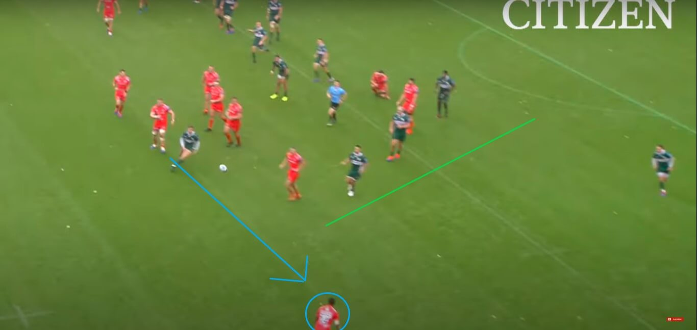 Denny Solomona v Leicester Tigers, 2019 - try analysis