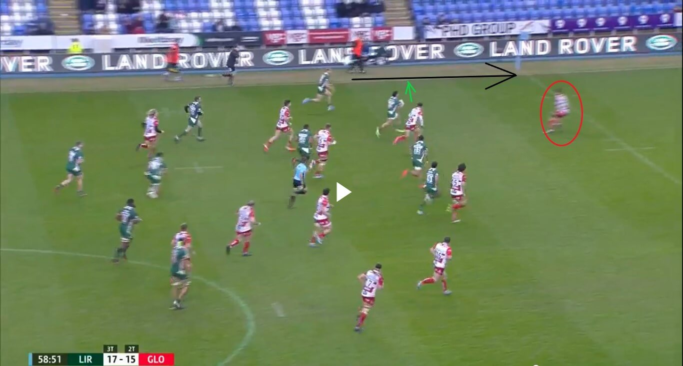 Ollie Hassell-Collins v Gloucester Rugby - try analysis