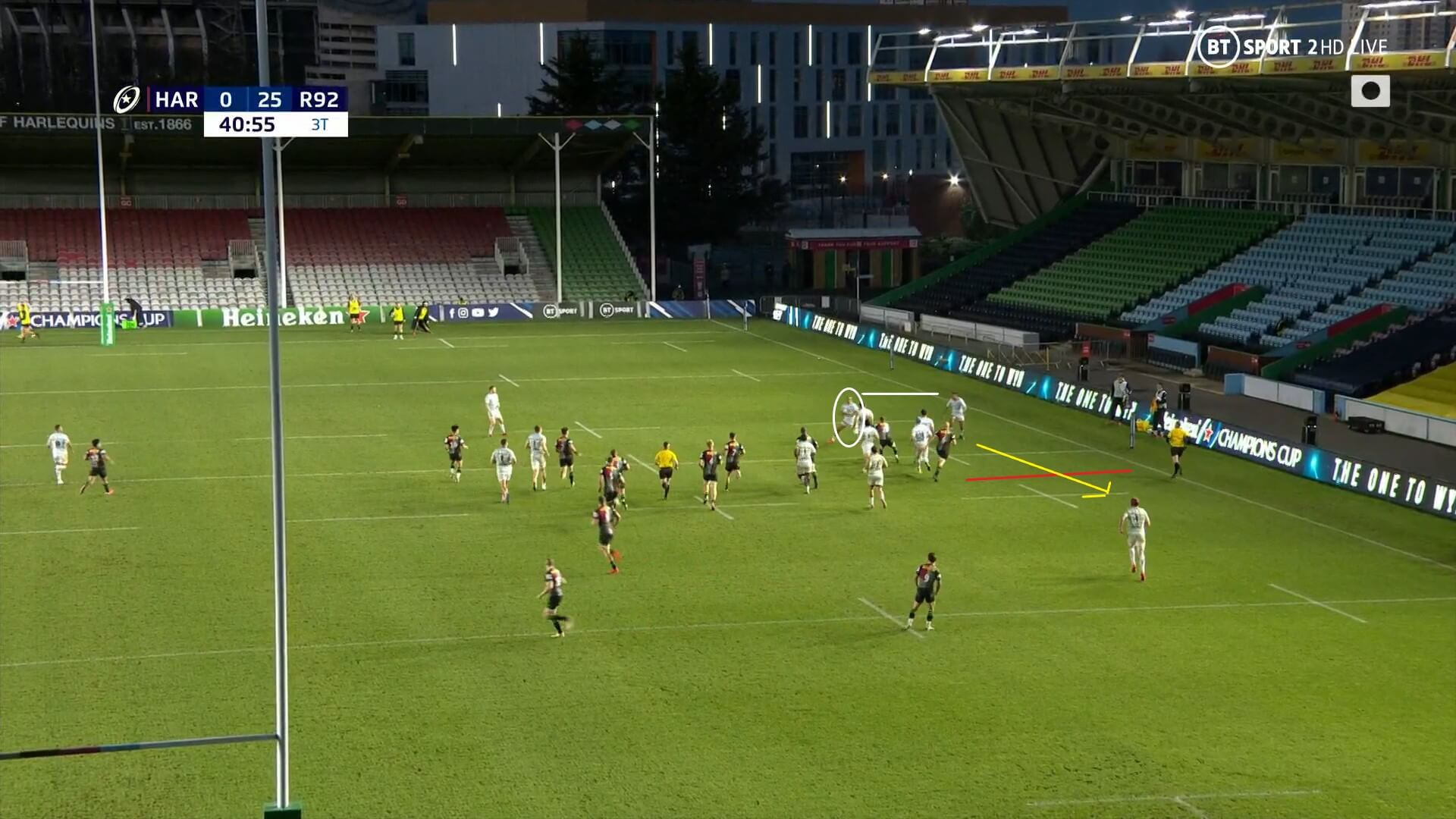 European Rugby Champions Cup 2020/2021: Harlequins v Racing 92 - tactical analysis tactics
