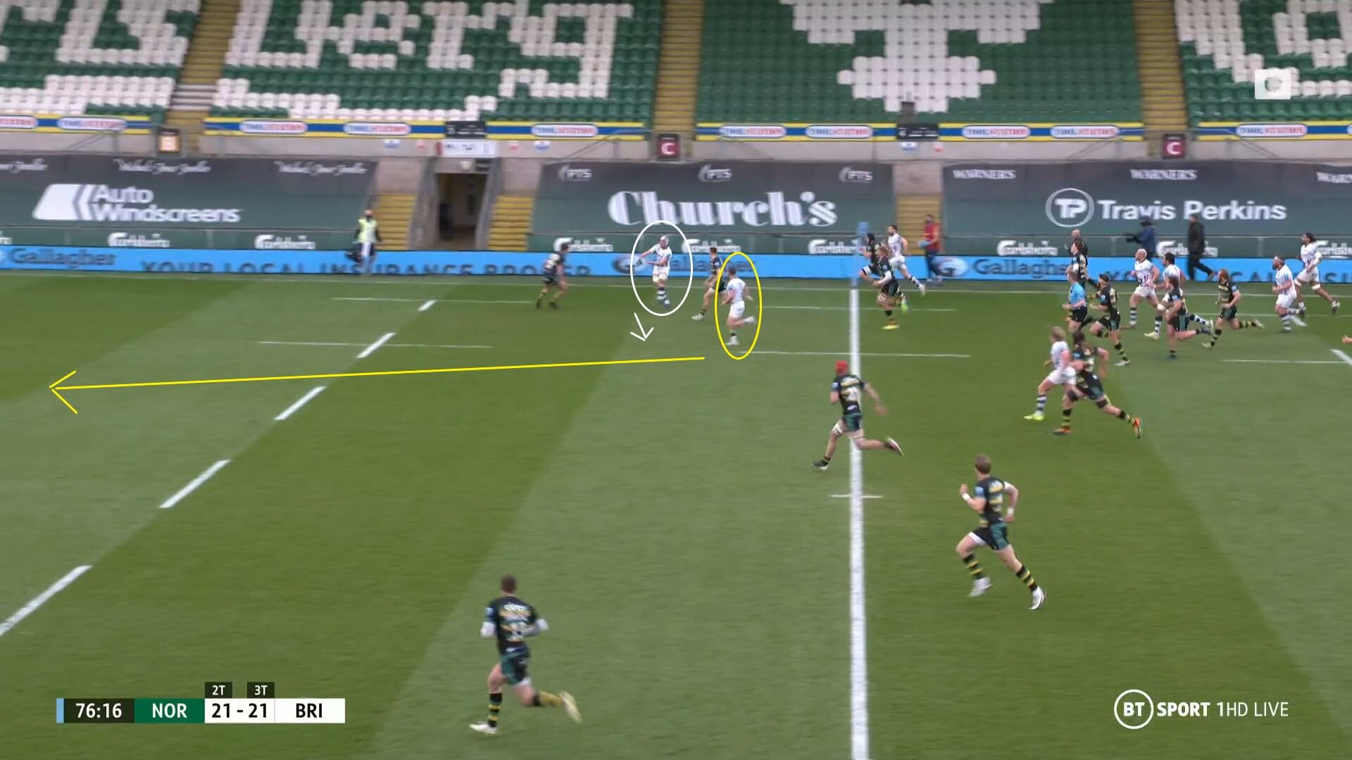 English Premiership 2020/2021: Northampton Saints v Bristol Bears - tactical analysis tactics